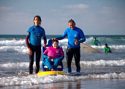 Our inclusive surfing champions at Sopela